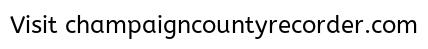Champaign County Recorder The Champaign County Recorder Is The