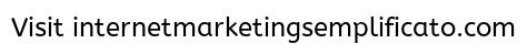 Obiettivo di una presenza online e di un business su internet