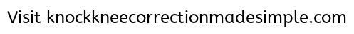 knock knee correction exercises