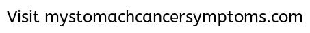 Click To Go To Signs Of Stomach Cancer