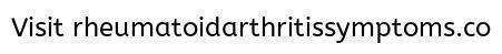 Men and Rheumatoid Arthritis