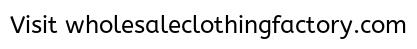 Where To Buy Wholesale Clothing For Boutique